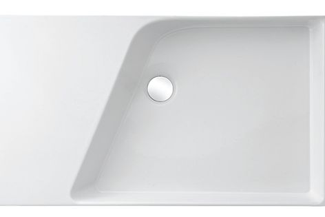 The Rythmik basin is available in four different sizes, ranging from 400 mm through to 800 mm.