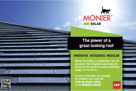 Monier Solartile by CSR Bricks & Roofing