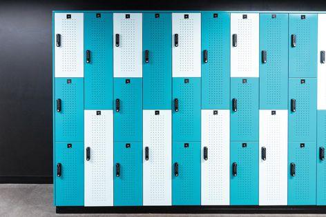 Modular steel locker system by Planex