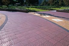 Shifting Sands textured paving