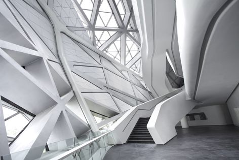 'Alpine White' also features at the Guanzhou Opera House in Guangdong, China. Design: Zaha Hadid Architects, London.