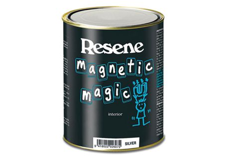 Magnets can be hung directly onto the finished area with Resene Magnetic Magic paint.