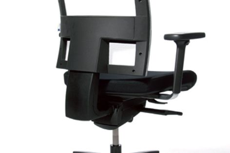 Baseline's Flex Point chair can be fitted with fixed-height or 3D-adjustable arms.