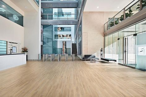 LooseLay flooring is available in large scale wood-look planks.