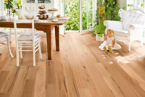 Available from Premium Floors, Quick-Step prefinished ReadyFlor in blackbutt offers excellent resistance to day-to-day wear and tear and is easy to maintain.