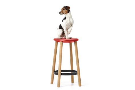 The Baker stool is available in more than 16,000 material and colour combinations.