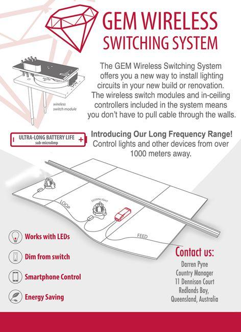 Wireless Switching System by Gem Lighting