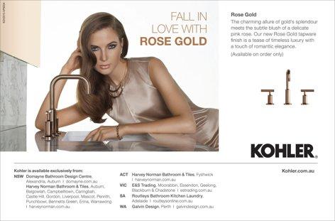 Rose Gold tapware from Kohler