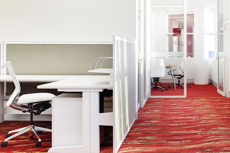 EcoSoft-backed carpet tile was used at Roy Hill in Western Australia.