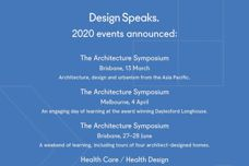 Design Speaks 2020 events announced