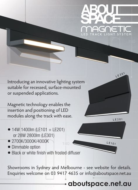 Magnetic LED track system by About Space
