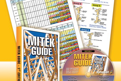 Builders can refer to the Mitek Guide when applying engineered building products.