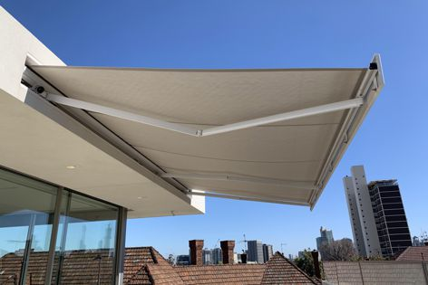 Warema's Terrea 700s recess awning from Shade Factor can retract fully into a wall space to create a seamless facade.