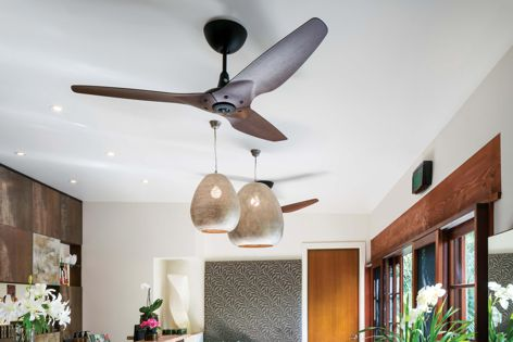 Haiku fans in Moso bamboo were used at the Gaia Retreat and Spa in Byron Bay's hinterlands.