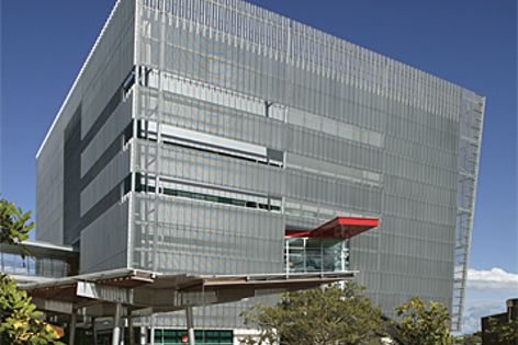 Hi-Light screens on the exterior of the ICT Building of the University of the Sunshine Coast.