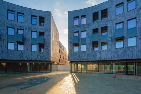 Corium by PGH Bricks and Pavers was used in City Park West in the UK, designed by Pollard Thomas Edwards.