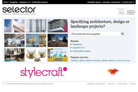 The Selector home page.