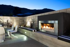 EF5000 outdoor gas fire by Escea