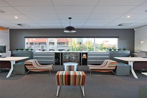 Friendly Tiles have been used in this office space.