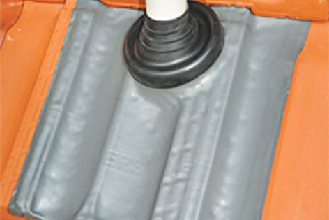 Lead-free Flashtites are easy to form to any roof tile shape.