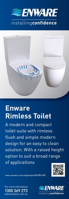 Rimless toilets from Enware