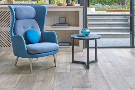 Driftwood boards by Royal Oak Floors have a soft, warm grey colour and are available in seven sizes.