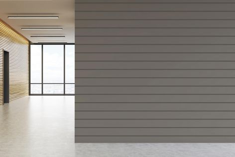 Easycraft decorative MDF wall and ceiling panels are available with smooth or grooved profiles.