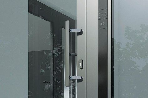 Schueco's Door Control System features security technology and an attractive design.