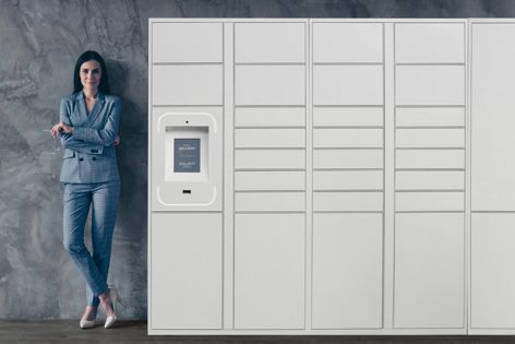 Groundfloor lockers can be located indoors or outdoors in a sheltered location.