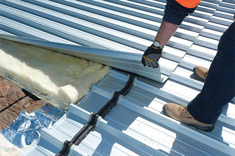 The Stramit FarLap roof lap joint system allows easier connection of roof decking sheets.