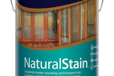 NaturalStain enhances natural woodgrain and protects timber from mould and UV.