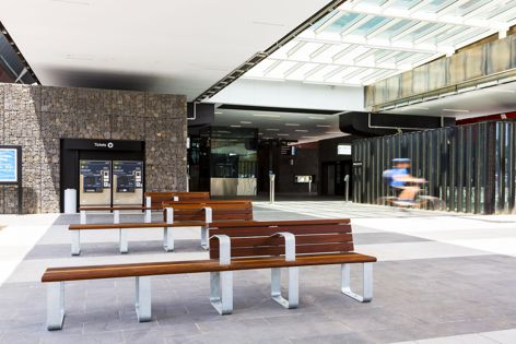 Stoddart supplied furniture, anti-throw screens, handrailing and balustrading for the Mernda Rail Extension project.