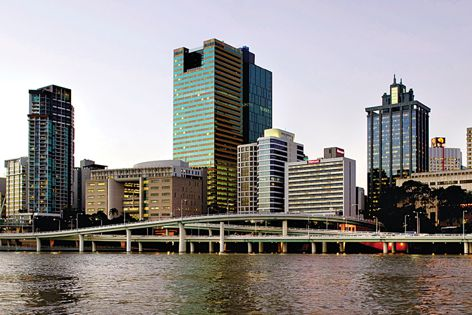 The Santos building in Brisbane was fitted with the Somfy Animeo facade management system.