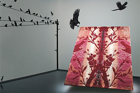 Natural and spiritual themes inspired the Brintons' new rug collection with Timorous Beasties.