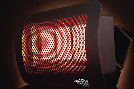 Tungsten smart-heat heater