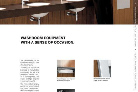 Bobrick washroom equipment