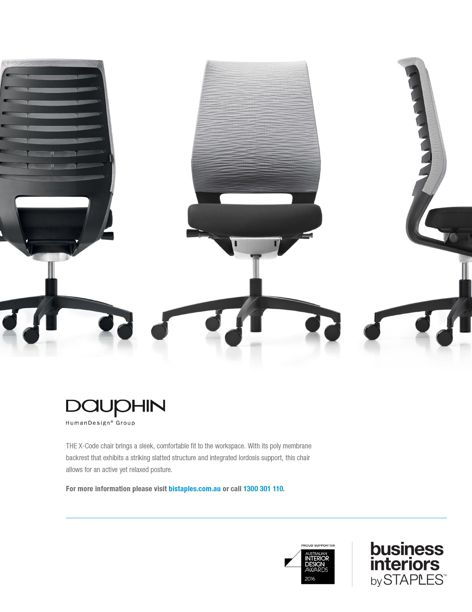 X-Code chair from Business Interiors by Staples