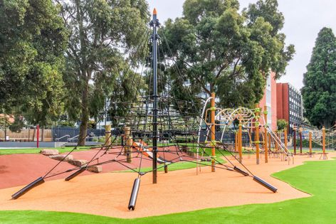 IXO equipment has a minimalist, transparent design. The play equipment is built for safety and complies with Australian standards.