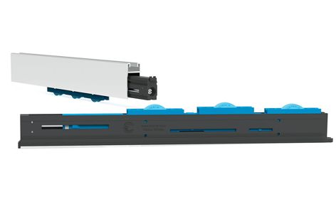 The innovative W3 roller can support the weight of double-glazed panels.