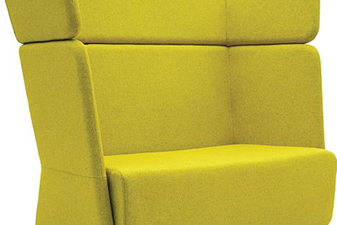 """The Basket series of lounge and armchairs features a unique """"recluse"""" design."""