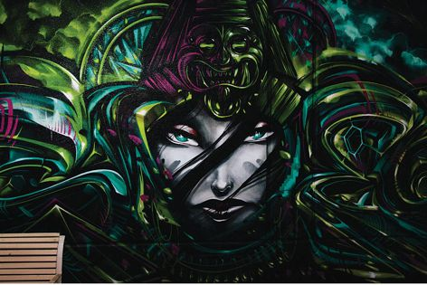 Artwork by Sofles (Brisbane), one of the artists who will feature at the Wonderwalls festival in Wollongong. Photograph: Chris Phillips for Occasionally Good.
