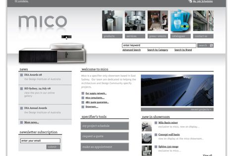 Mico Design's new website features comprehensive information and technical data.