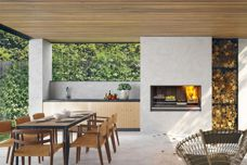 EK Series Outdoor Fireplace Kitchen by Escea