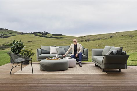 The furniture featured in King's outdoor range, including Zaza, is made with the company's trademark quality frames.
