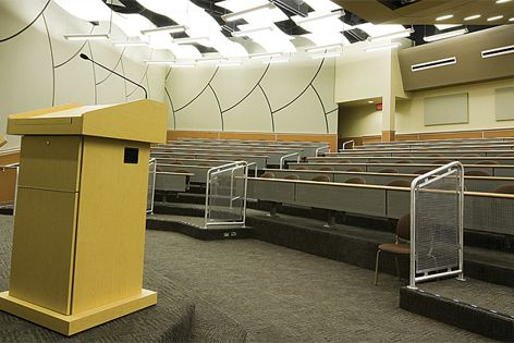 Polymax Absorb insulation is ideal for use in auditoriums and sports halls.