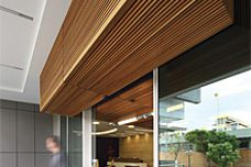 Screenwood ceiling and facade panels