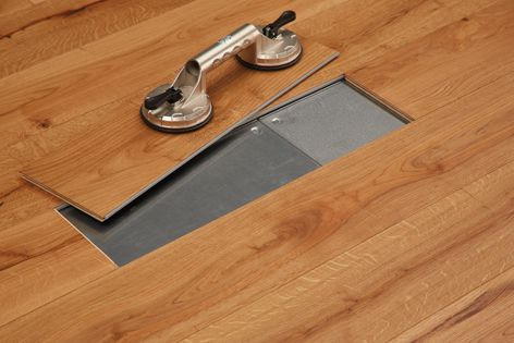 The Magna raised-access flooring system is compatible with a range of Havwoods' tongue-and-groove flooring products.