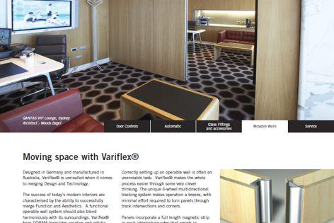 Variflex movable walls by Dorma
