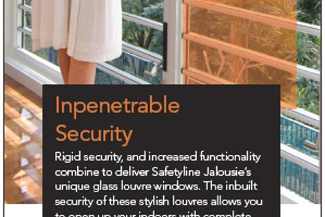 Security louvres by Safetyline Jalousie