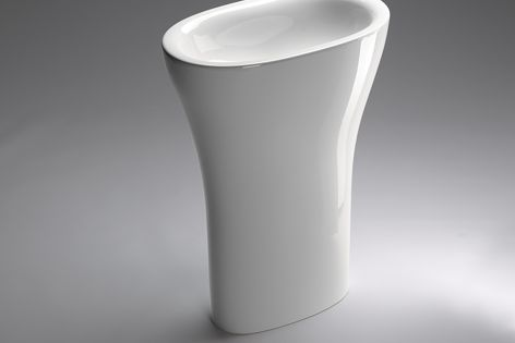The deep fountains of ancient Rome inspired this Muse washbasin from Catalano.